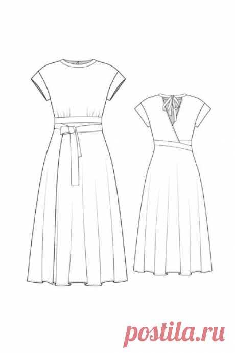 Выкройки платьев: купить и скачать готовую выкройку платья
