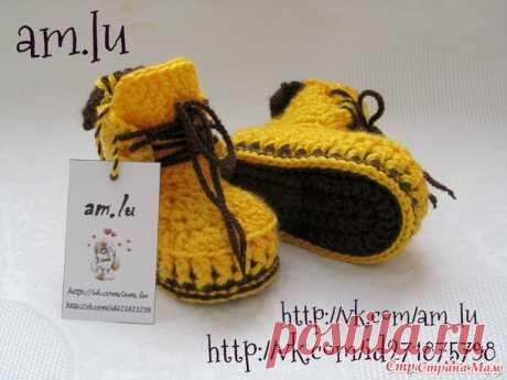 ПИНЕТКИ-БОТИНОЧКИ (подробный мастер класс) - Вязание для детей - Страна Мам