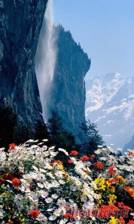 Suiza hermosa montañosa