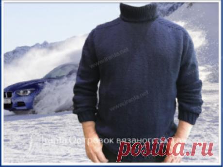 """Мужской свитер-реглан """"Космос"""". Подробное описание, фото, схемы"""