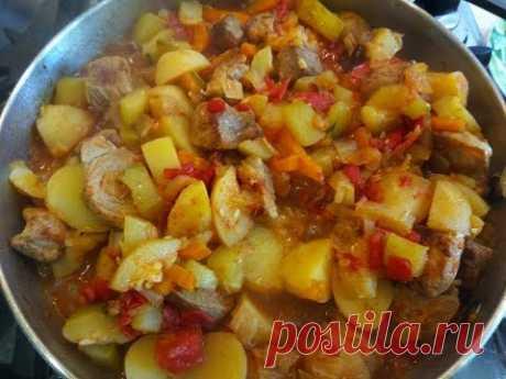 Овощное рагу из кабачков с мясом - YouTube