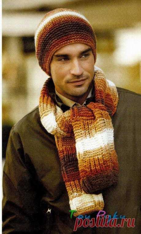 Мужские шарф и шапка — Три Руки — мир эксклюзивных вещей
