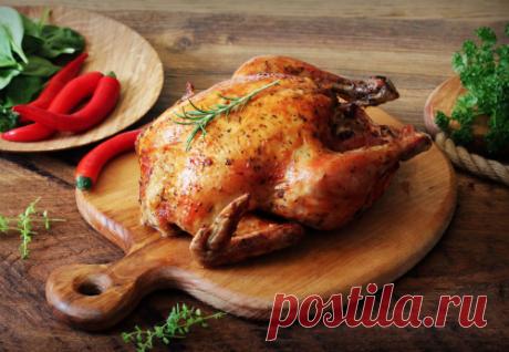 Запеченная целиком курица с хрустящей корочкой | Новости, обзоры, акции в интернет-магазине TOP SHOP