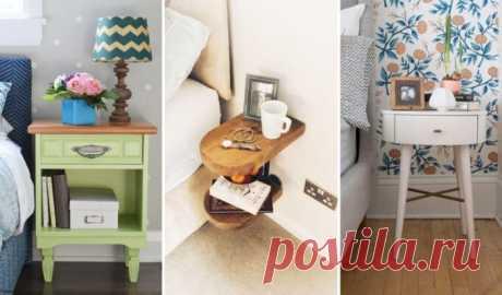 Прикроватный столик: 30 крутых идей для вашей спальни – ВСЕ ПРОСТО