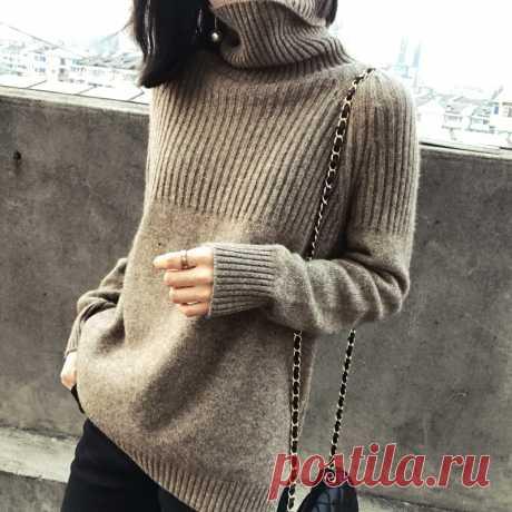 Женский свитер, сезон зима-Весна 100%, вязаные джемперы из кашемира и шерсти, Женский пуловер, горячая Распродажа, водолазка, толстая одежда 3 цветов, топы | Женская одежда | АлиЭкспресс