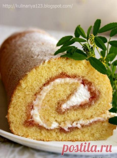 Рулет или рецепт очень удачного бисквита автор Алия