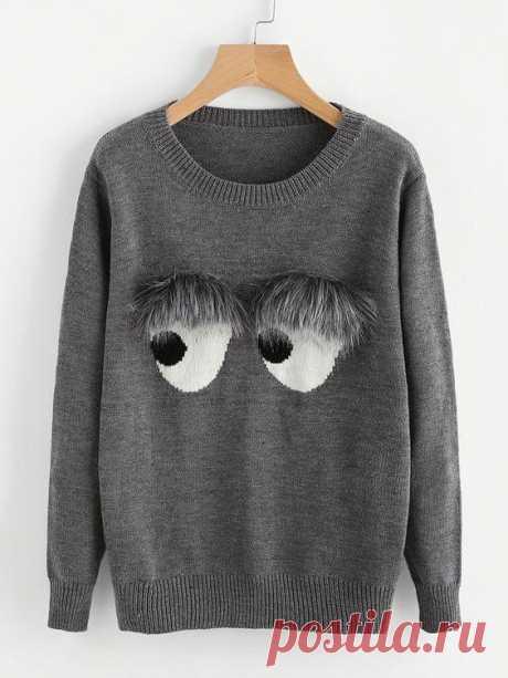Оригинальное применение кусочков меха Небольшие кусочки меха можно использовать очень необычным образом — для оформления свитеров. Из шерсти можно сделать как изысканные женственные аппликации, например, перышки, цветы, так и забавный дек...