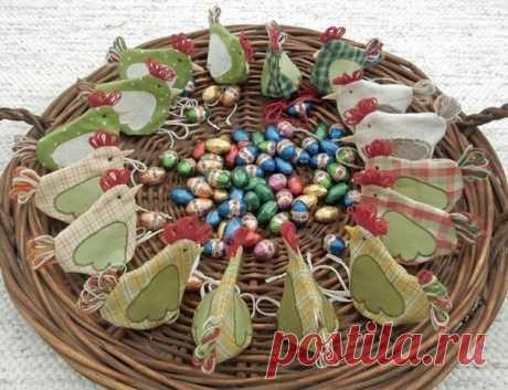 Курочки-сумочки для подарков к Пасхе | Рукоделие