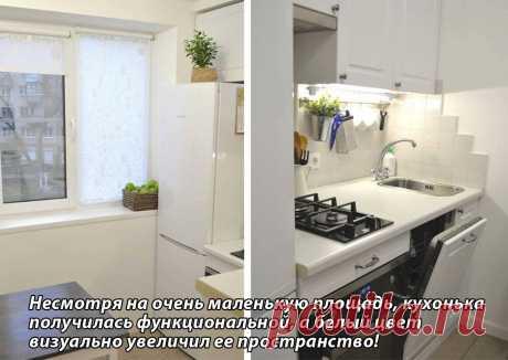 Белоснежная кухня с посудомойкой, плитой и другой техникой на 4,5 квадратах | Твоя квартира | Яндекс Дзен
