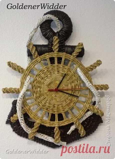 Часы- якорь (рабочие) + небольшой рассказ о том как я их делала. | Страна Мастеров