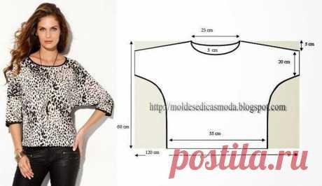 Простая выкройка блузы
