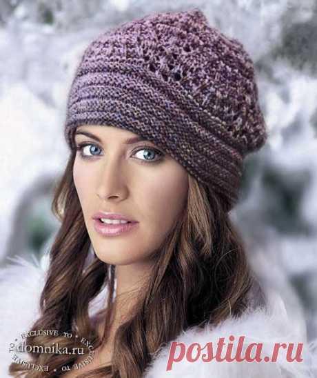 Вязаные шапки для женщин пожилого возраста - 6 моделей женских шапок на 50-60 лет