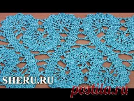 Crochet Lace of the Buges Tutorial 19 Part 1 of 2 Orlas o la cinta en la técnica bryuggskogo los encajes