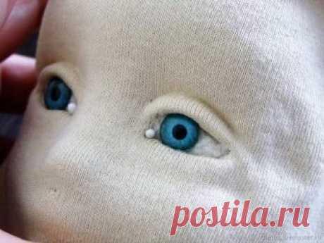 Как обклеить трикотажем голову текстильной куклы – Ярмарка Мастеров