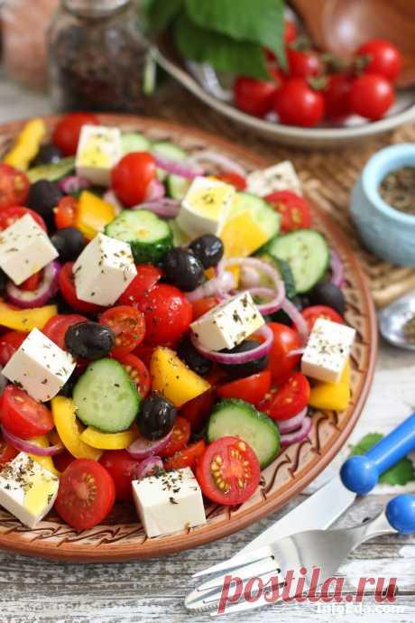 Греческий салат – классический рецепт приготовления (с фото) | InfoEda.com