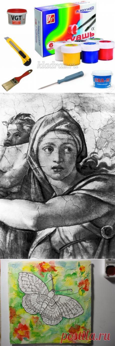 Имитация фрески. Мастер-класс