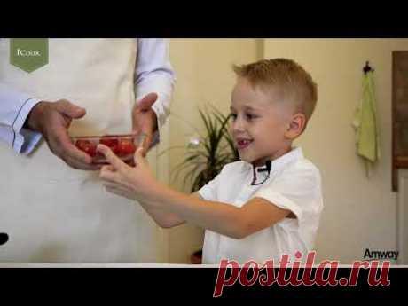 Готовим детям и вместе с детьми с iCook: Хрустящий картофельный омлет