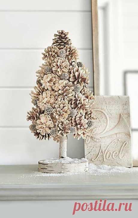 Чудесные новогодние украшения из шишек своими руками | Конфитюр | Яндекс Дзен