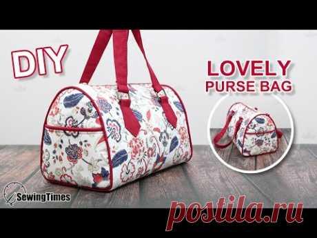 дамская сумка своими руками   красивая сумка Мастер класс и выкройка [sewingtimes]