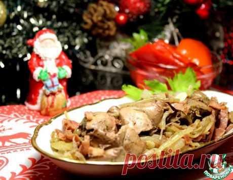 Ароматная куриная печень, запеченная в фольге – кулинарный рецепт