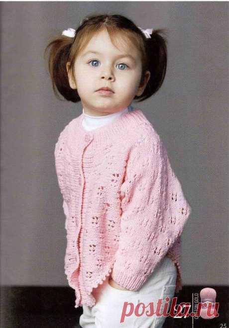 Кофточка-пончо спицами для девочки. Кофта спицами на девочку 3 года | Шкатулка рукоделия. Сайт для рукодельниц.