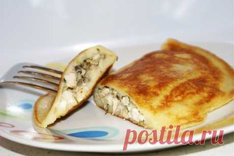 Быстрые блинчатые «пирожки» на кефире