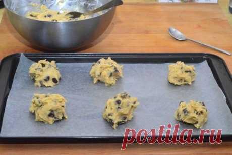 Печенье с кусочками шоколада «А-ля американо»