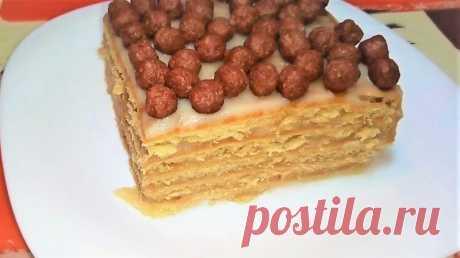 Торт БЕЗ ВЫПЕЧКИ из Печенья с Заварным Кремом. — Кулинарная книга - рецепты с фото