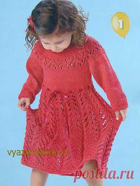 Ажурное платье для девочки - Для девочек - Каталог файлов - Вязание для детей