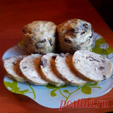 Куриная колбаса в кружке с грибами - Простые рецепты Овкусе.ру