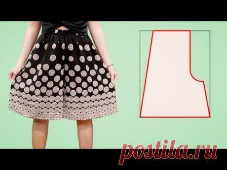 Как сделать короткие брюки-кюлоты   Шорты своими руками / юбка-брюки / короткие брюки-палаццо
