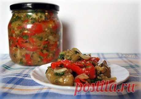 Маринованный салат из баклажан