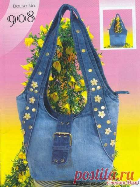 Jeans bags. Ideas + patterns (Sewing and cut) | Inspiration of the Needlewoman Magazine