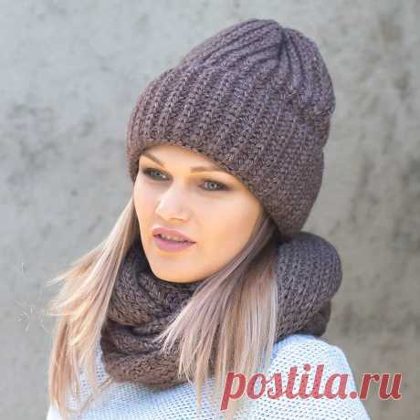 как связать женскую шапку спицами с отворотом: 2 тыс изображений найдено в Яндекс.Картинках