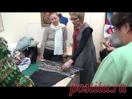 """Ксения Дмитриева """" Учимся шить юбку пэчворк 3 часть """"  """" Learning to sew a skirt patchwork 3 part """""""
