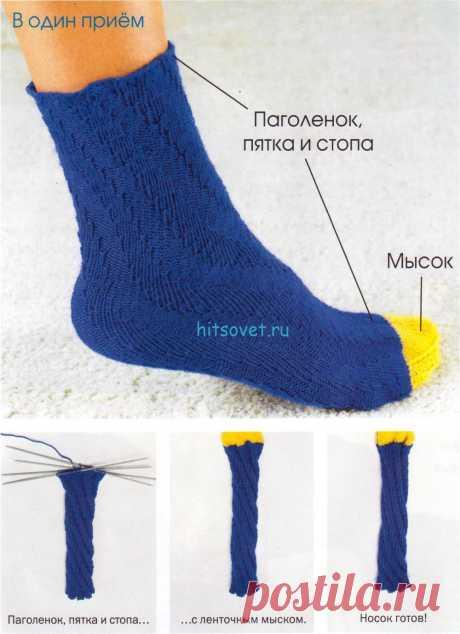 Вязание носков по спирали. Мастер класс - Хитсовет Вязание носков спицами по спирали мастер класс. Спиральный носок до ленточного мыска вяжется всё время по прямой, при этом на протяжении 4 р. вязать попеременно 4 лиц., 4 изн. = спиральный раппорт.