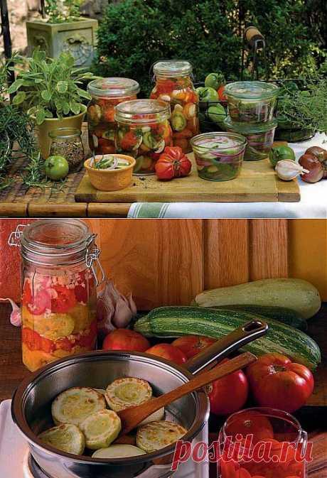 Заготовки: овощные салаты на зиму без уксуса / Простые рецепты