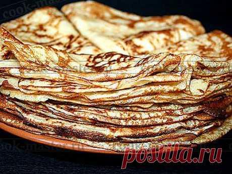 Блины на дрожжах - рецепт приготовления с фото / COOK-MASTER.RU