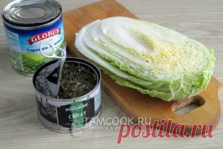 Салат из морской и пекинской капусты — рецепт с фото пошагово