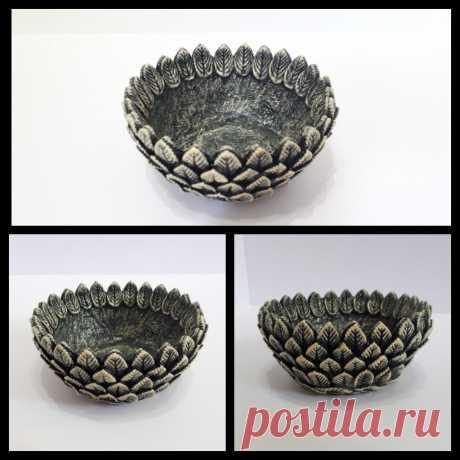 """Чаша """"Каменный цветок"""". Подходит для хранения украшения или другой мелочи............."""