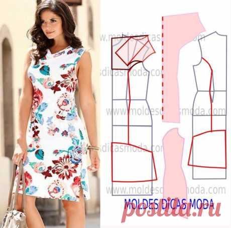 Простые выкройки и моделирование летних платьев №6