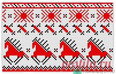 Представляю вам новые жаккарды - Мезенские кони и олени для вышивки и вязания.  Представляю вам новые жаккарды — Мезенские кони и олени для вышивки и вязания.