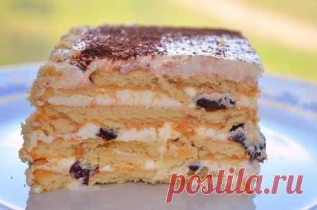 Как приготовить торт без выпечки из печенья - рецепт, ингредиенты и фотографии