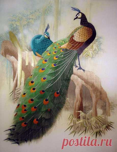 Вышивка шелком по шелку - жемчужина восточных искусств
