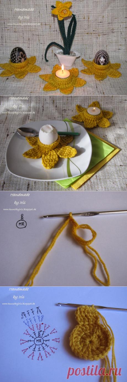 Вязание крючком. Подставочки для пасхальных яиц