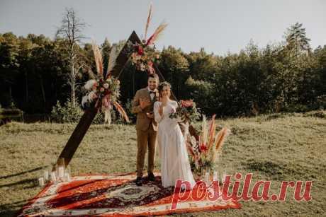 Искренняя, настоящая и яркая бохо-свадьба ❤