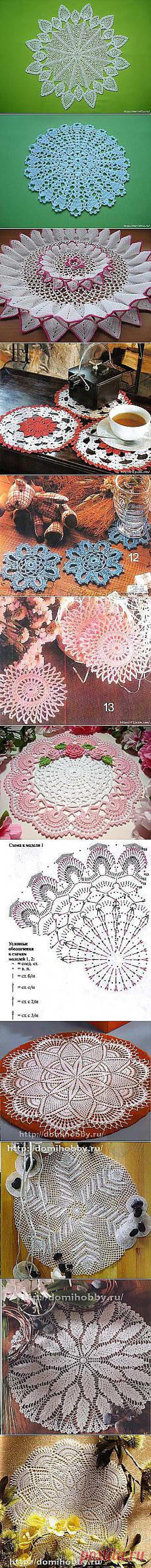 крючком natalia igochewa: салфетки | Постила.ru