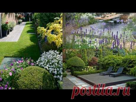 Красивый и уютный двор дачи и частного дома