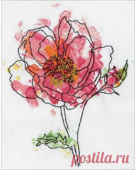Design Works Pink Floral - Cross Stitch Kit 2970 - 123Stitch.com