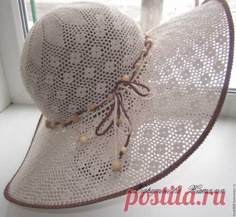 шляпа вязаная крючком Элегант – купить в интернет-магазине на Ярмарке Мастеров с доставкой - 8K9M3RU | Пугачев